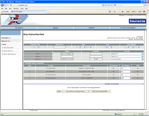 WebDX Web Interface